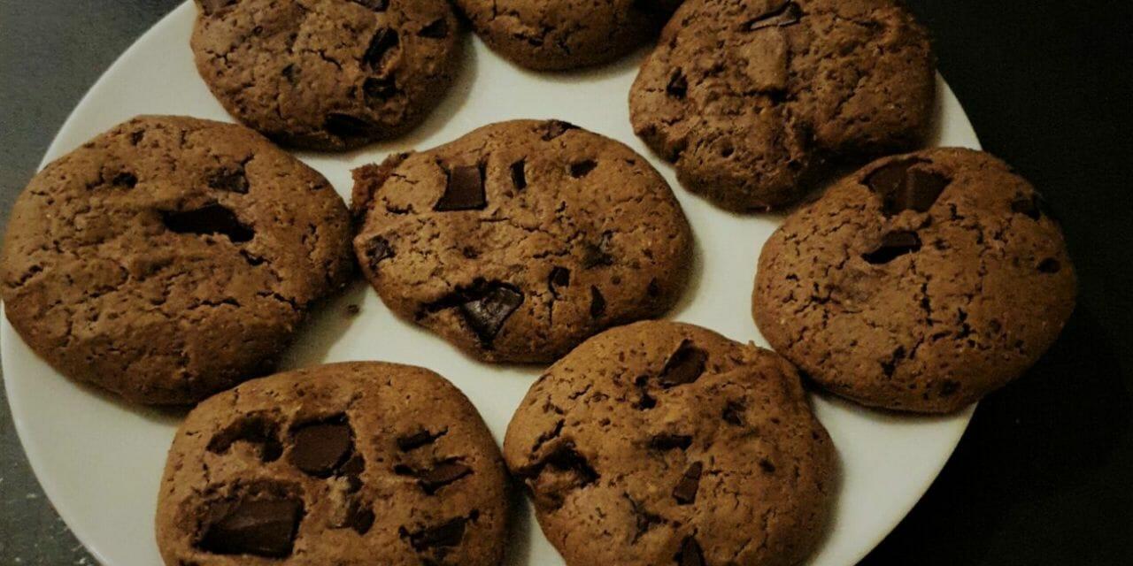 Recette cookies aux pépites de chocolat et beurre de cacahuète