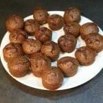 Recette de muffins à la purée de cajou, noisettes, cacao et pépites de chocolat