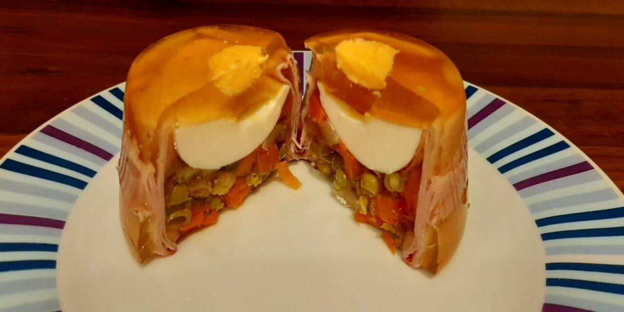 Recette d'aspics œufs mortadelle macédoine (ŒUF en gelée)