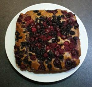 Bublanina aux fruits rouges
