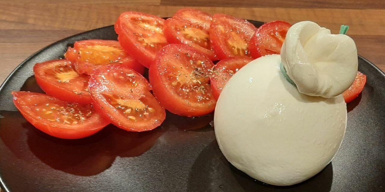 Recette de Burrata à la tomate