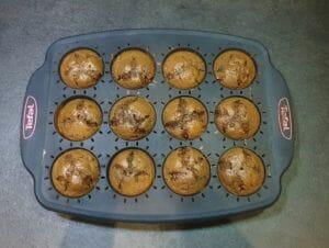 Muffins a la puree de cajou noisettes cacao et pepites de chocolat 14