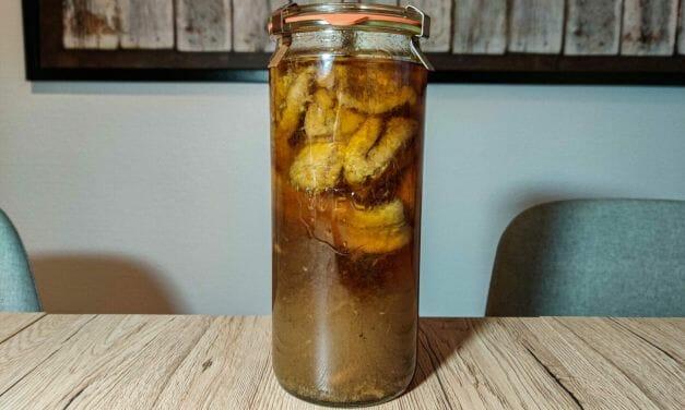 Recette du Rhum arrangé Vanille, Bananes caramélisées et flambées