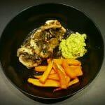 Recette de Papillote de saumon, patate douce et guacamole