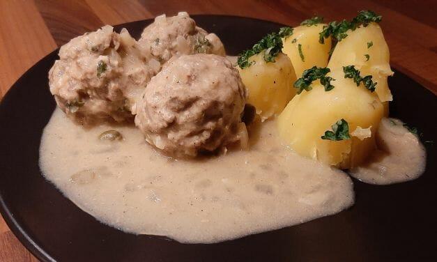 Königsberger klopse (Recette de boulettes de viande aux câpres)