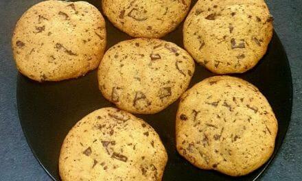 Recette des Cookies classiques à la vanille et pépites de chocolat