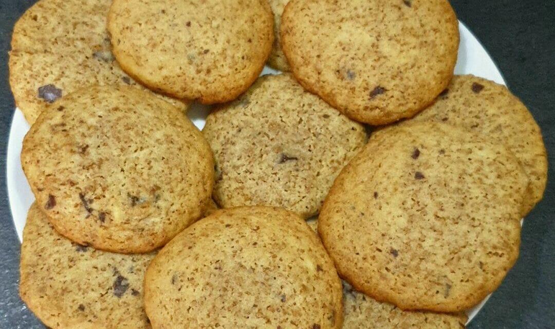 Recette de Cookies au spéculoos et pépites de chocolat