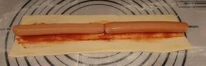 Saucisses feuilletées à la tomate