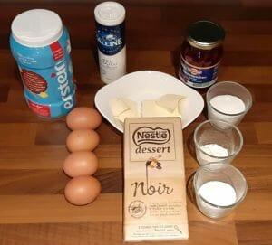 Soufflé au chocolat et aux griottes