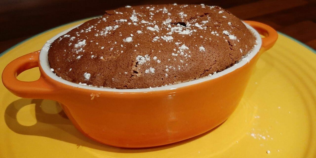 Recette du Soufflé au chocolat et aux griottes