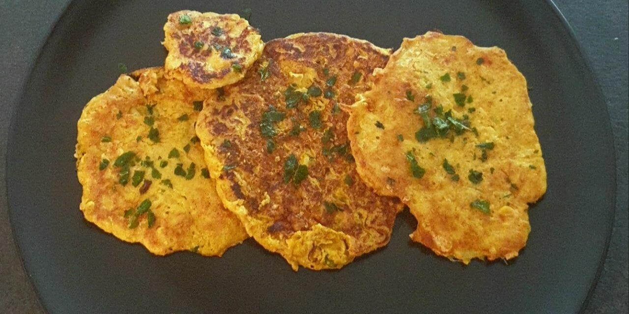 Recette de Crêpes de maïs au gruyère râpé et épices