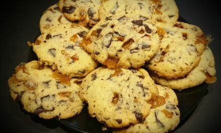 Recette de Cookies au caramel beurre salé et aux pépites de chocolat