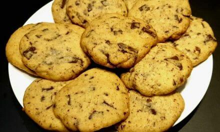 Recette de Cookies à la noisette et aux pépites de chocolat