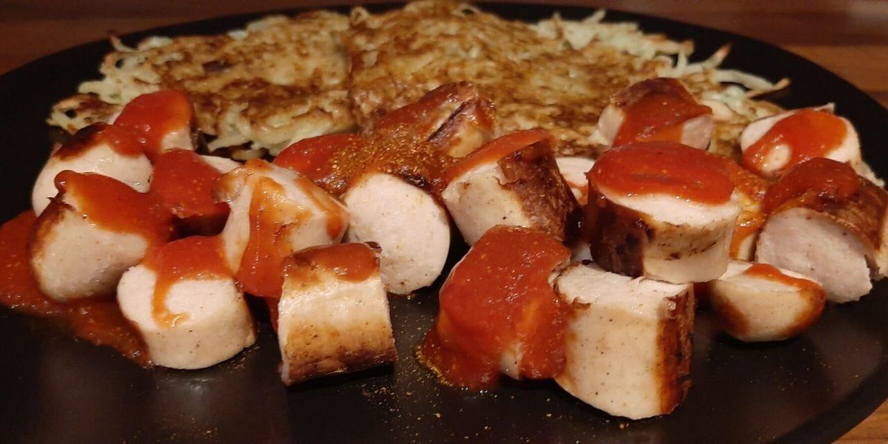 Recette de Galettes de pomme de terre et Currywurst