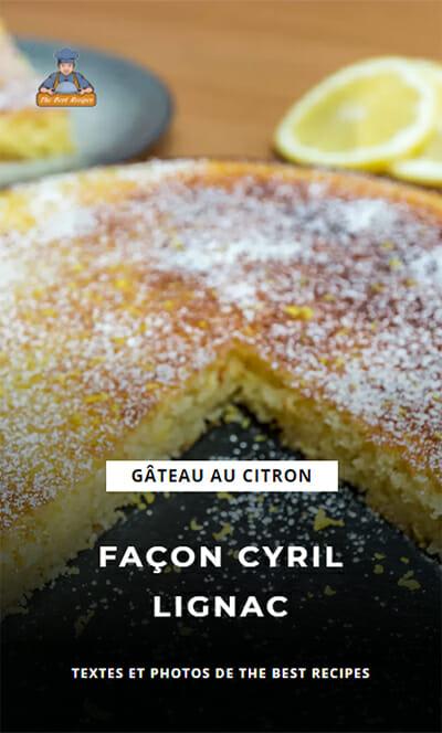 Recette Web Story Gâteau citron Cyril Lignac