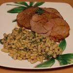 Recette de Gigot d'agneau au four pour Pâques et ses flageolets