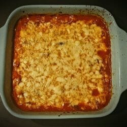 Gratin de courgettes sauce tomate mozzarella