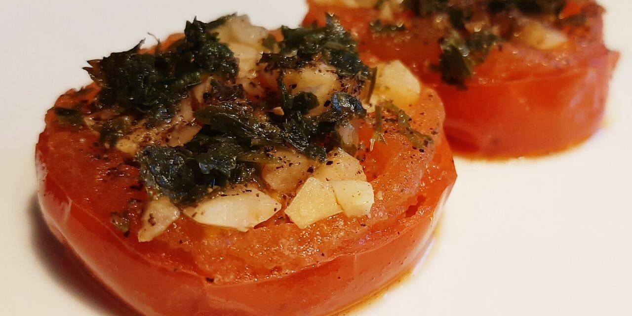 Recette de Tomates provençales à la poêle faciles à faire (sans gluten)