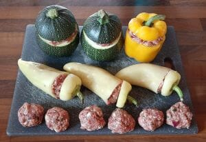 Trio de légumes farcis