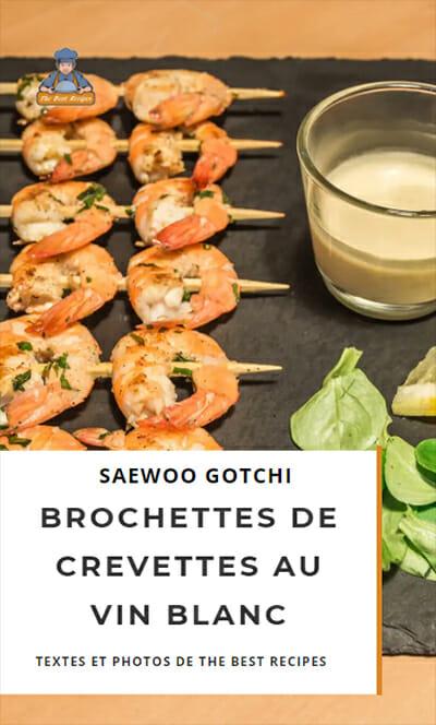 Recette Web Story brochettes crevettes
