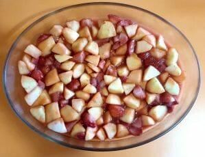 Crumble pommes fraises