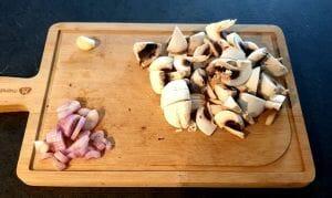 Gnocchis sauce aux champignons