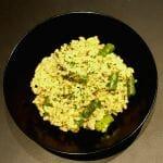Recette de Risotto de coquillettes aux asperges vertes et aux champignons