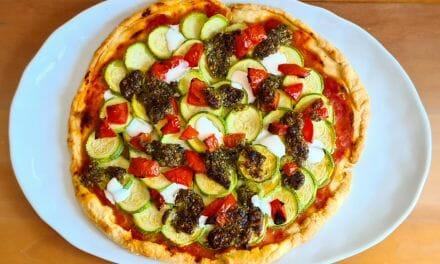 Recette de Tarte à la courgette, tomate et au pesto
