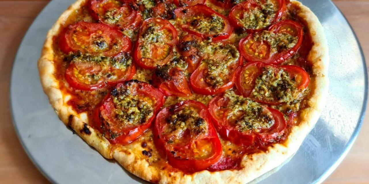 Recette de Tarte à la tomate au pesto