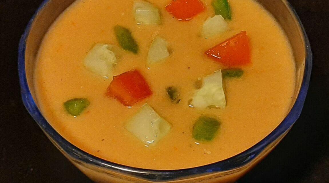 Recette de Gaspacho Andalou (tomate, poivron et concombre)