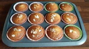 Muffins à la mangue fraîche