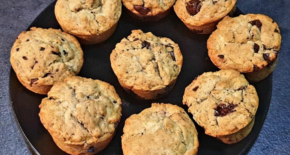 Recette de Muffins au yaourt et aux pépites de chocolat