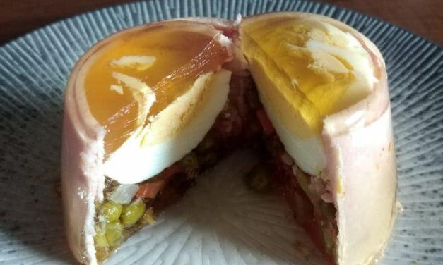 Recette œuf en gelée au jambon et macédoine (aspic)