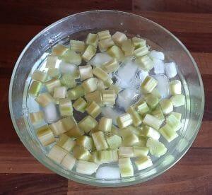 Comment congeler rhubarbe