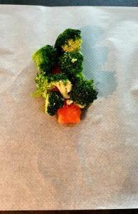 Papillote saumon et brocolis