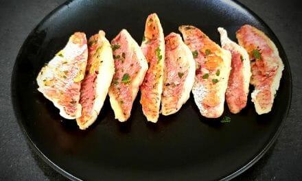 Recette de Filets de rougets frits à la poêle. Un poisson délicieux !