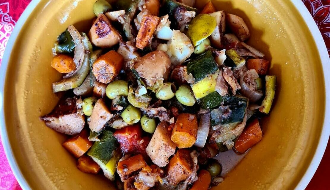 Tajine de légumes. Une recette 100% végan